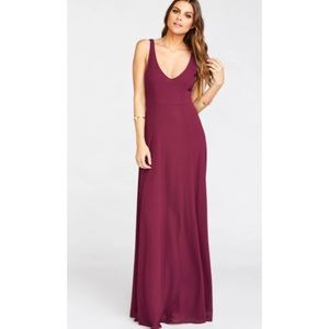 Show me your Mumu Jenn Maxi Dress Merlot Medium
